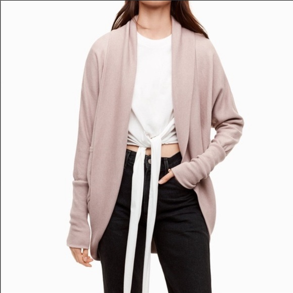 Wilfred Diderot Pink Open Face Cocoon Cardigan